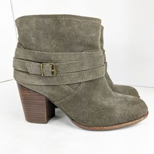 Splendid Laventa Ankle Boots Size 7.5 Suede Taupe